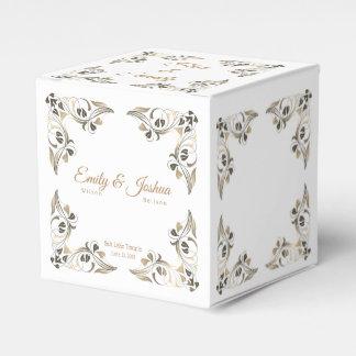 Caja Para Regalos La hoja de oro de lujo confina el Caja-Templo del