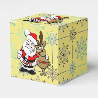 Caja Para Regalos Las Felices Navidad Santa y Rudy - favorezca la