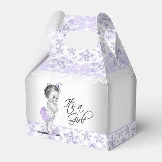 Caja Para Regalos Lavanda púrpura y fiesta de bienvenida al bebé