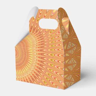 Caja Para Regalos Mandala anaranjada