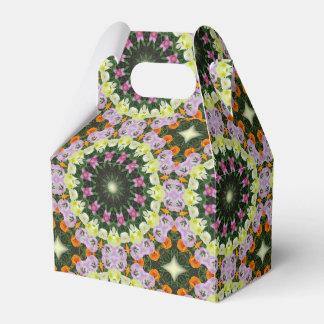 Caja Para Regalos Mandala de la flor de los tulipanes,