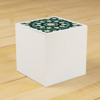 Caja Para Regalos Mandala del azul verde y cerúleo de Sacramento