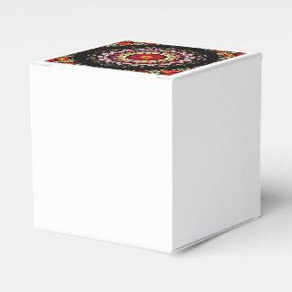 Caja Para Regalos Mandala negra y roja mágica