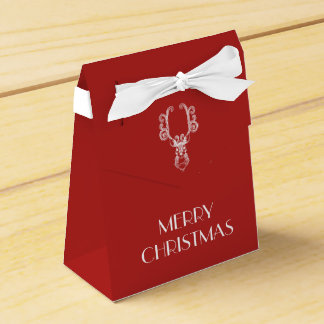 Caja Para Regalos Mensaje personalizado reno blanco rojo del navidad