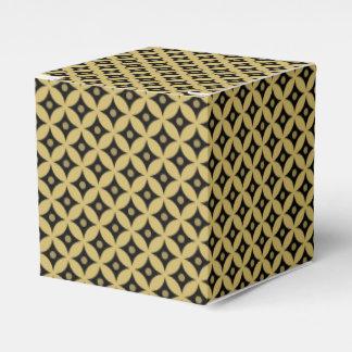 Caja Para Regalos Modelo de lunares elegante del círculo del negro y