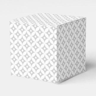 Caja Para Regalos Modelo de lunares gris y blanco moderno del