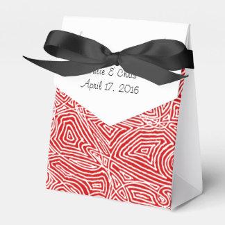 Caja Para Regalos Modelo del rojo de Scribbleprints