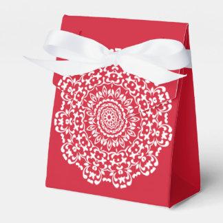 Caja Para Regalos Modelo elegante blanco rojo del cordón