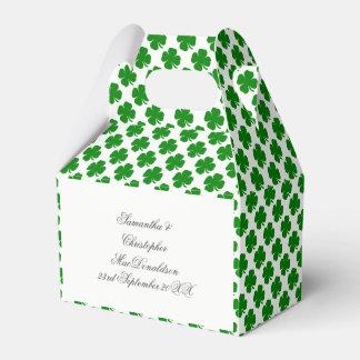 Caja Para Regalos Modelo irlandés verde del trébol