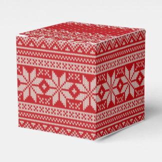Caja Para Regalos Modelo que hace punto del suéter del invierno del