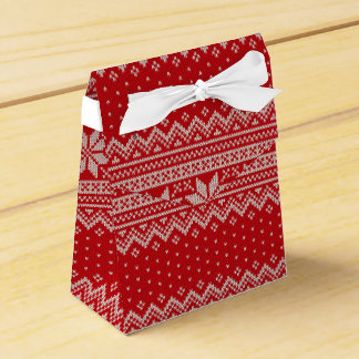 Caja Para Regalos Modelo que hace punto del suéter del navidad -