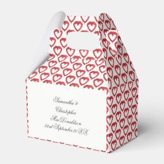 Caja Para Regalos Modelo rojo romántico del corazón del amor