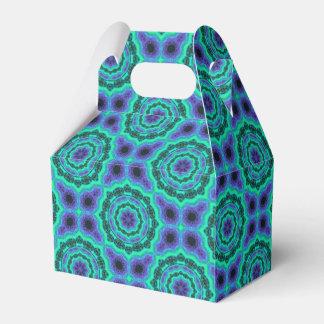 Caja Para Regalos Modelo verde, púrpura y azul de la mandala