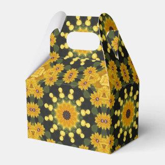 Caja Para Regalos naturaleza Negro-observada de Susans, Flor-Mandala