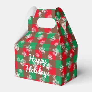 Caja Para Regalos Navidad l de la tela escocesa del búfalo del copo