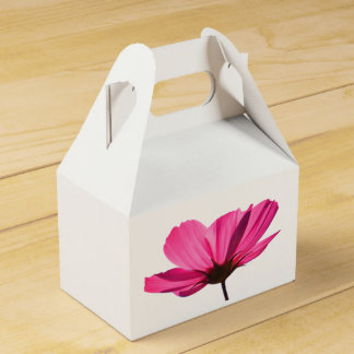 Caja Para Regalos Neon Pink Flower and cute butterfly cardboard box