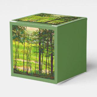 Caja Para Regalos Ocultado más allá del verde