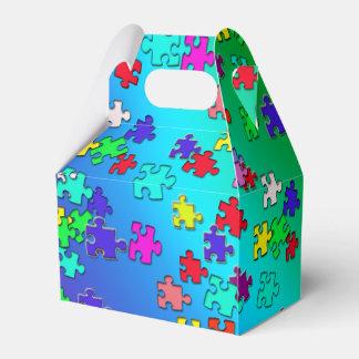 Caja Para Regalos Pedazos multicolores de los rompecabezas