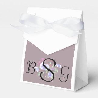 Caja Para Regalos Pensamientos marrón y púrpuras que casan productos