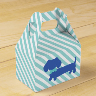 Caja Para Regalos Perro azul de la salchicha de Frankfurt del