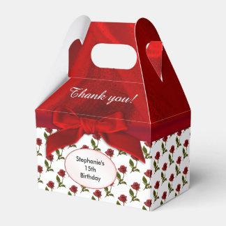 Caja Para Regalos Personalice: Gracias - modelo de los rosas rojos