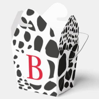Caja Para Regalos Piel animal en blanco y negro