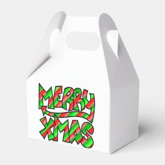Caja Para Regalos Pintada de Navidad