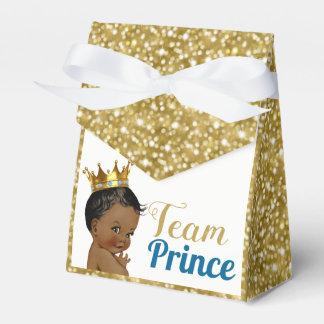 Caja Para Regalos Príncipe africano Gold Glitter Favor Tents del