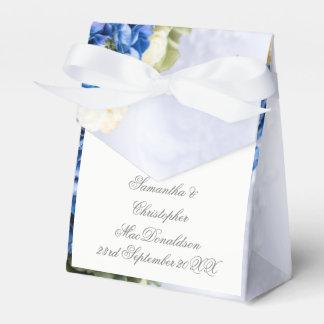 Caja Para Regalos Ramillete del boda del ramo de la flor azul y