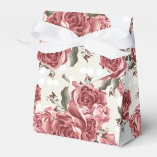 Caja Para Regalos Ramo dibujado romántico de los rosas rojos del