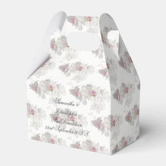 Caja Para Regalos Ramo floral blanco y rosado del boda