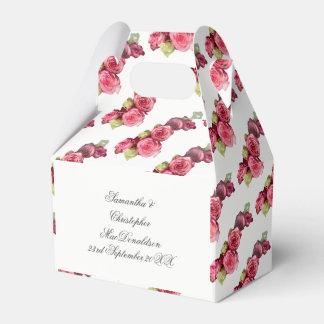 Caja Para Regalos Ramo floral color de rosa rosado del boda
