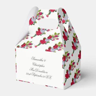 Caja Para Regalos Ramo floral del boda del rosa rojo y blanco