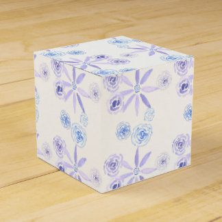 Caja Para Regalos Regalo/caja florales púrpuras y azules del favor