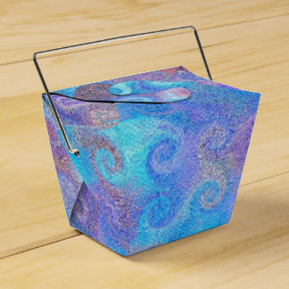 Caja Para Regalos Rizos azules del mar