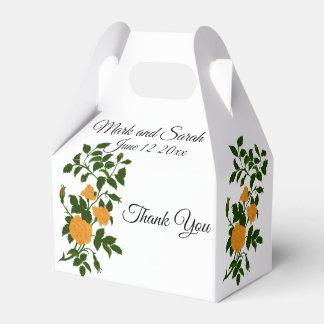 Caja Para Regalos Rosas amarillos que se casan o celebración del