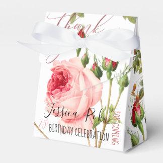Caja Para Regalos Rosas del vintage de PixDezines/arte botánico