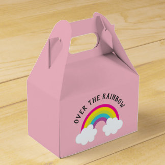 Caja Para Regalos Sobre el cumpleaños/la ducha del arco iris