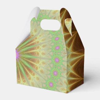 Caja Para Regalos Sol de la mandala del fractal
