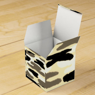 Caja Para Regalos Sombras pálidas del camuflaje de Brown y del negro