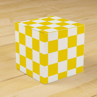 Caja Para Regalos Tablero de damas amarillo