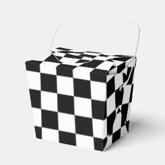 Caja Para Regalos Tablero de damas blanco y negro