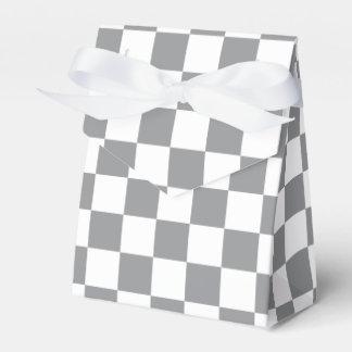 Caja Para Regalos Tablero de damas gris