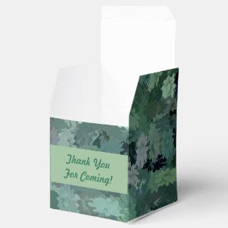 Caja Para Regalos Tapicería floral verde