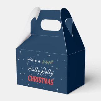 Caja Para Regalos Tenga navidad alegre de un acebo