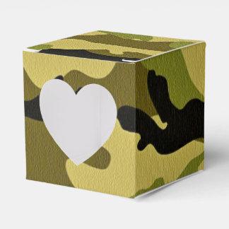 Caja Para Regalos Textura verde del ejército del camuflaje