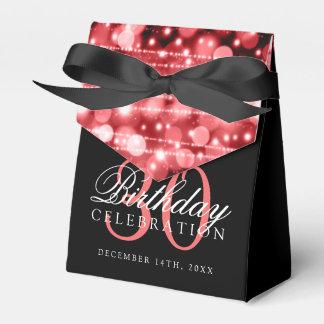 Caja Para Regalos trigésimo La fiesta de cumpleaños chispea rojo