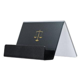 Caja Para Tarjetas De Visita Abogado en las escalas de oro de la ley el | de la