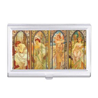Caja Para Tarjetas De Visita Alfonso Mucha - arte Nouveau - el día