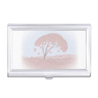 Caja Para Tarjetas De Visita árbol de Sakura del tenedor de la tarjeta de